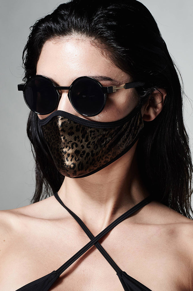 FASHION FACE MASK_METALLIC LEOPARD