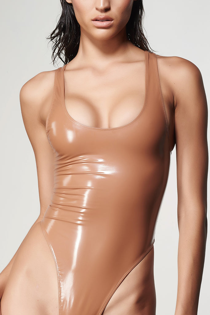 SANAZ BILA -  Latex Tank One Piece Swimsuit