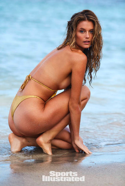 Sexy Metallic Gold One Piece_Sports Illustrated_Front