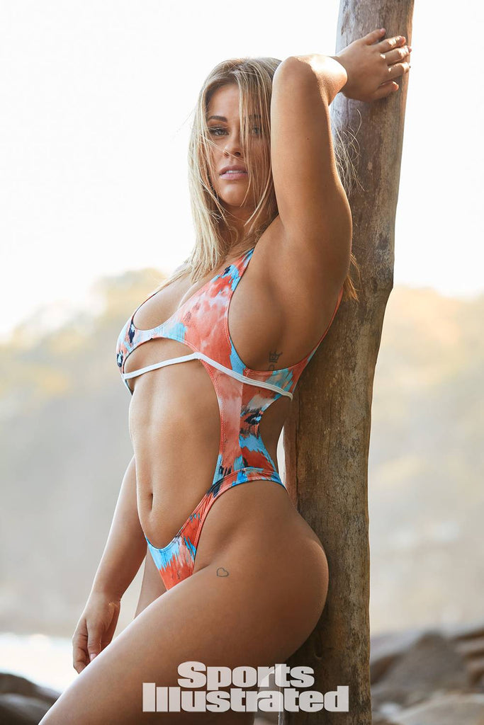 Tie Dyed One Piece Swimsuit as seen on Paige VanZant in SI SWIMSUIT