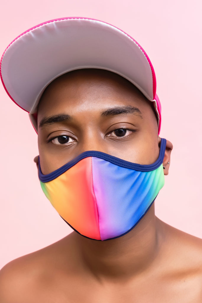 Rainbow Face Cover