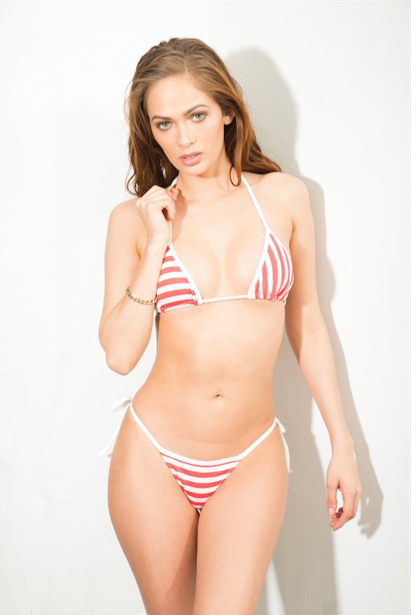 Striped Two Piece Bikini - NIC
