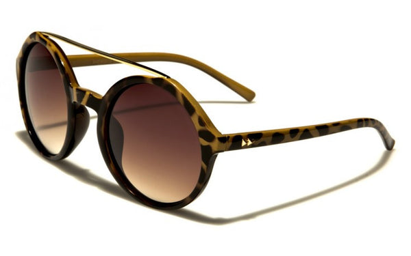 Retro Round Sunglasses -The Farrah Tort
