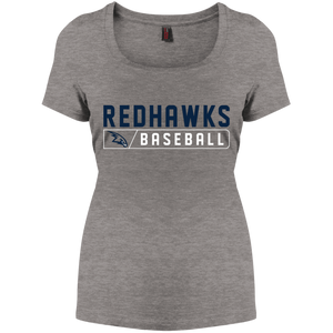 RedHawks Baseball Bar Logo Women's Perfect Scoop Neck Tee