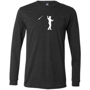 Bush League Bat Flip Men's Jersey LS T-Shirt