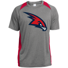 Load image into Gallery viewer, RedHawks Logo (mixed) Youth Colorblock Performance T-Shirt