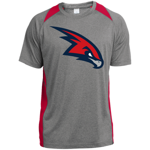 RedHawks Logo (mixed) Youth Colorblock Performance T-Shirt