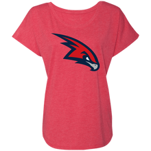 Load image into Gallery viewer, RedHawks Logo (mixed) Ladies' Triblend Dolman Sleeve