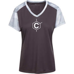 C2 (un)disc2overed Ladies' CamoHex Colorblock T-Shirt