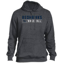 Load image into Gallery viewer, RedHawks Baseball Bar Logo Tall Pullover Hoodie