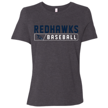 Load image into Gallery viewer, RedHawks Baseball Bar Logo Ladies' Relaxed Jersey Short-Sleeve T-Shirt