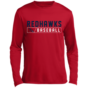 RedHawks Baseball Bar Logo Long sleeve Moisture Absorbing T-Shirt