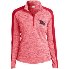 Load image into Gallery viewer, Redhawks Ladies' Electric Heather Colorblock 1/4-Zip Pullover