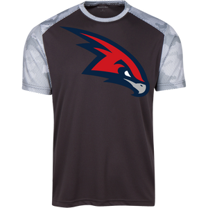 RedHawks Logo (mixed) Youth CamoHex Colorblock T-Shirt