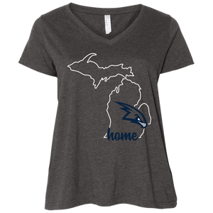 RedHawks Home Ladies' Curvy V-Neck T-Shirt