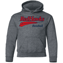 Load image into Gallery viewer, RedHawks Baseball Feather (red) Youth Pullover Hoodie