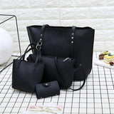 4pcs/set Leather Handbag
