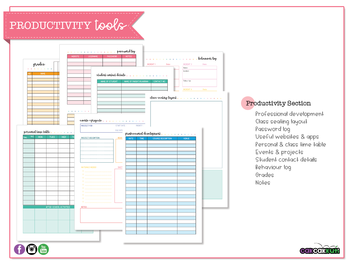 Planner Productivity Tools