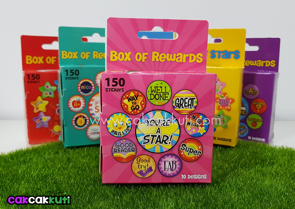 M2013 - Box of 150 Reward Stickers (Pink)