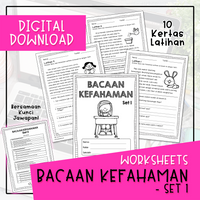 Worksheets - BACAAN KEFAHAMAN SET 1 (Digital Download)