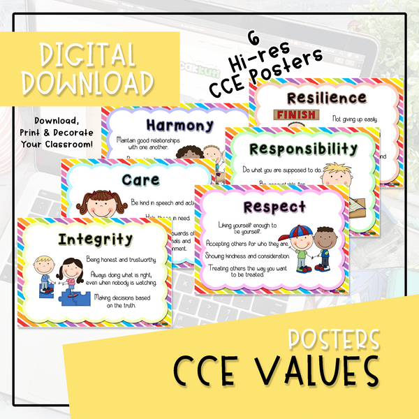 Posters - CCE Values (Digital Download)