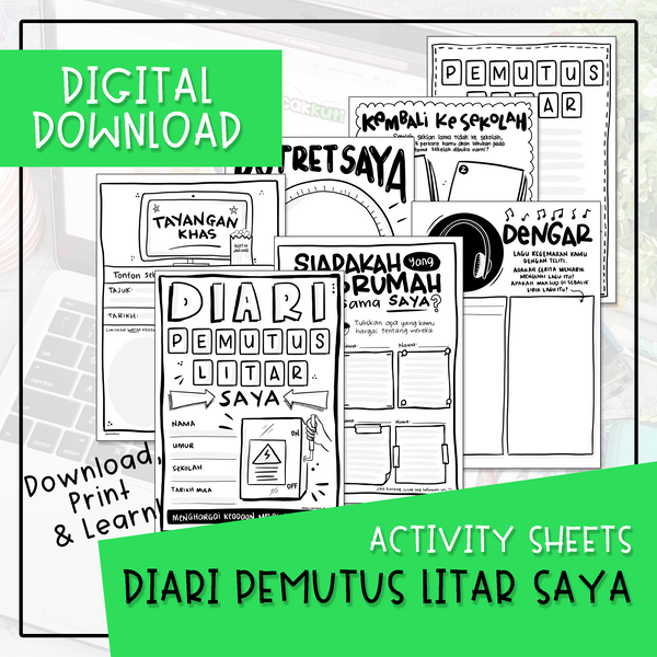 Activity Sheets - DIARI PEMUTUS LITAR SAYA (Digital Download)
