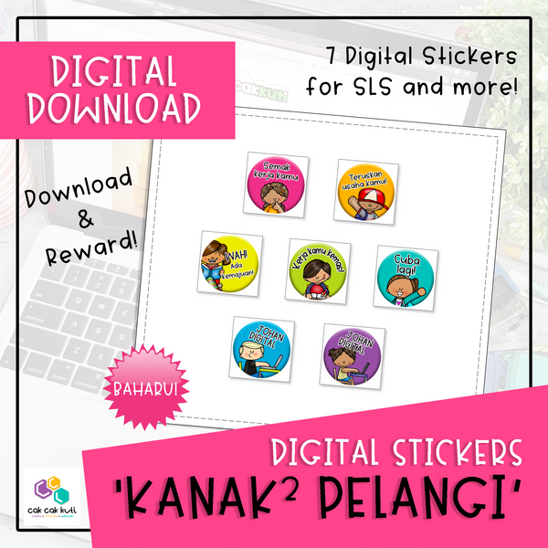 Digital Stickers - Kanak-Kanak Pelangi (Digital Download)