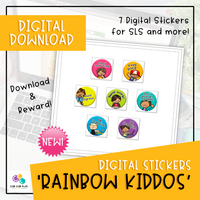 Digital Stickers - Rainbow Kiddos (Digital Download)