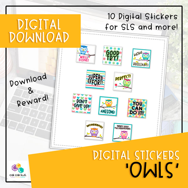 Digital Stickers - Owls (Digital Download)