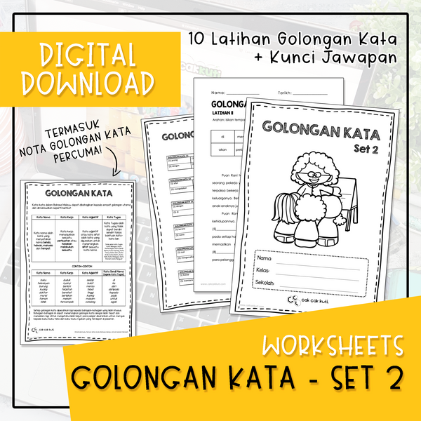 Worksheets - GOLONGAN KATA SET 2 (Digital Download)