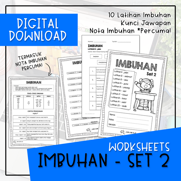 Worksheets - IMBUHAN SET 2 (Digital Download)