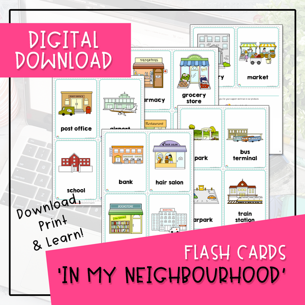 Flash Cards - In My Neighbourhood (Digital Download)