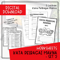 Worksheets - KATA PELBAGAI MAKNA SET 2 (Digital Download)