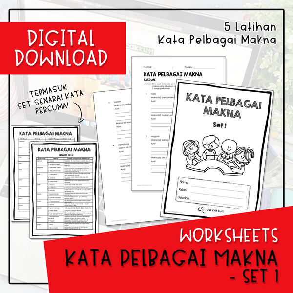 Worksheets - KATA PELBAGAI MAKNA SET 1 (Digital Download)