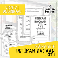Worksheets - PETIKAN BACAAN SET 1 (Digital Download)