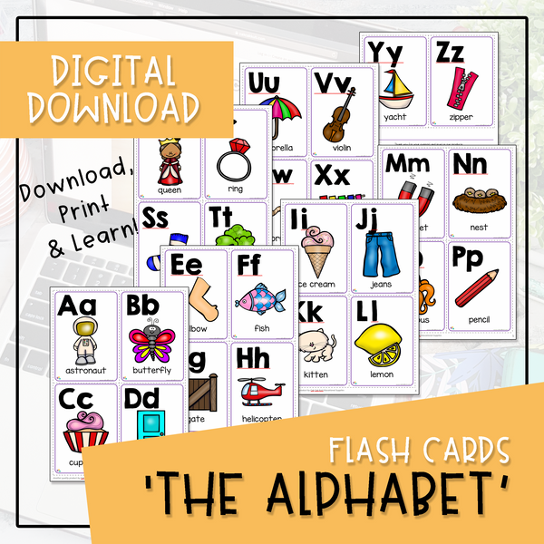 Flash Cards - The Alphabet (Digital Download)
