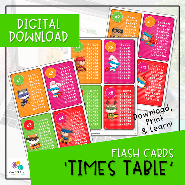 Flash Cards - Times Table (Digital Download)