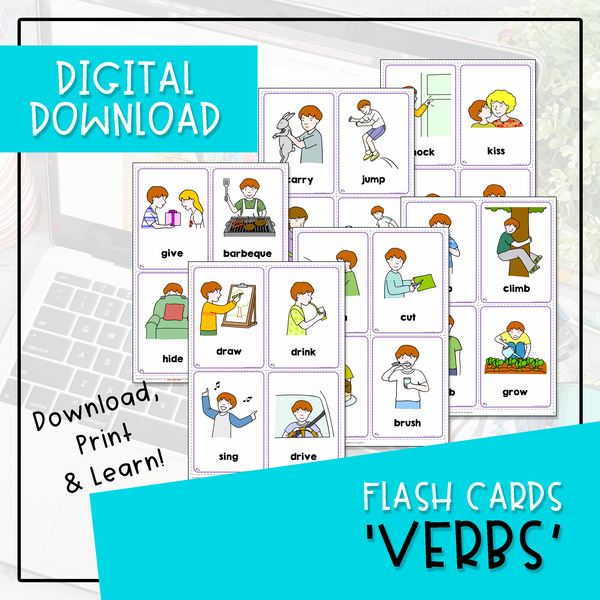 Flash Cards - Verbs (Digital Download)