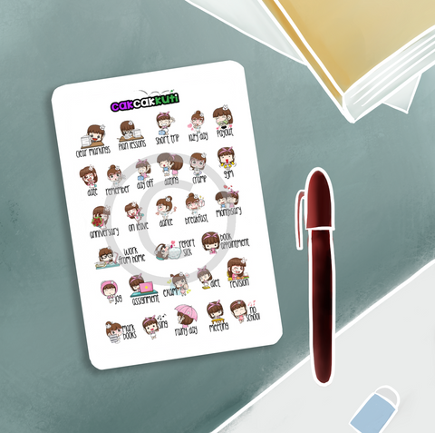 Teacher Planner Stickers Set