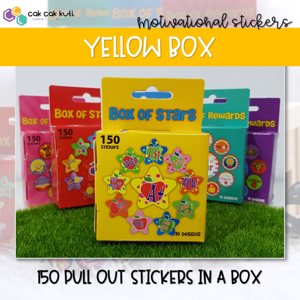 M2016 - Box of 150 Reward Stickers (Yellow)