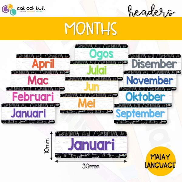 D1002 - Months Headers (Malay)