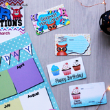R2005 - BIRTHDAY GIFT CARDS SET (OWLS)