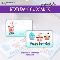 R2006 - BIRTHDAY GIFT CARDS SET (CUPCAKES)