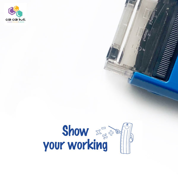 S2015 - Self-Inking Stamp (Show Your Working)