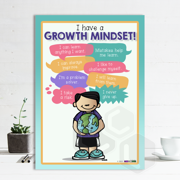 P2025 - I HAVE A GROWTH MINDSET POSTER