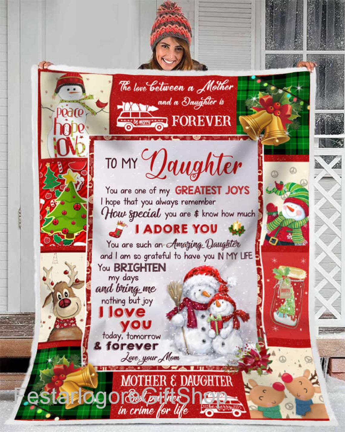To My Daughter Blanket Special Gift From Mom Dad Parents Gift Christ Lovelypod