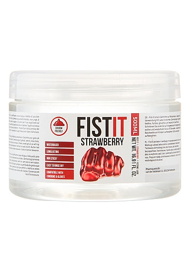 Fist It Strawberry Flavoured Extra Thick Water Based Lubricant 500 ml / 16.9 fl oz
