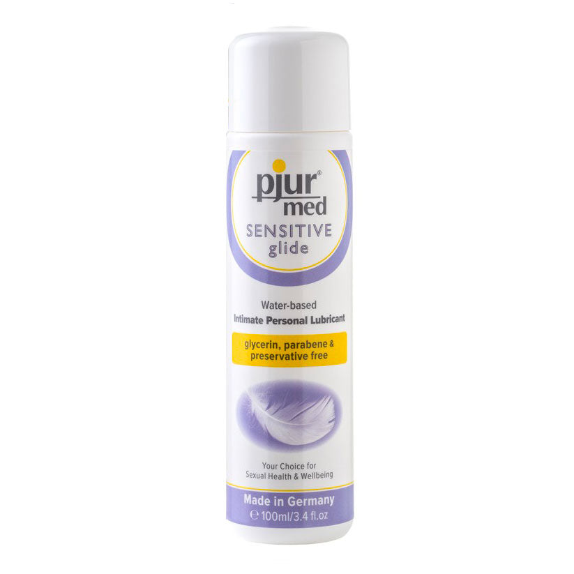 Pjur Med Sensitive Glide Intimate Personal Water Based Lubricant Natural 100 ml / 3.38 fl oz