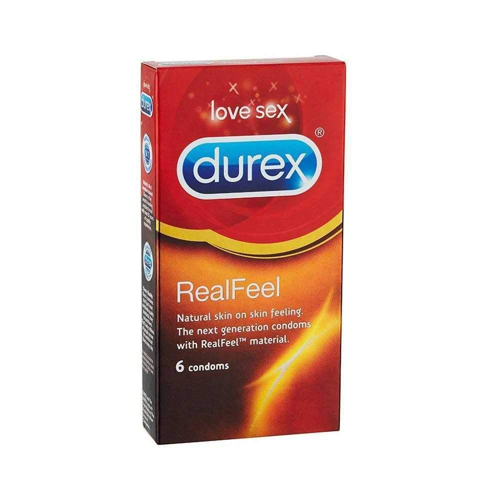 Durex Real Feel Natural Condoms Pack of 6 - The Condom People