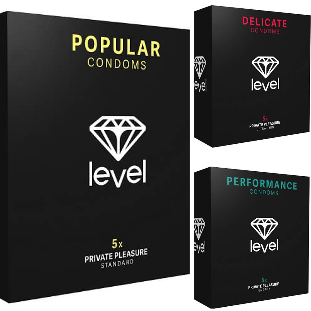 Level Condoms Try Me Pack - Pack of 15 - The Condom People